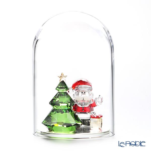 スワロフスキー ガラス鐘 クリスマスツリーとサンタ SWV5-403-170 18AW