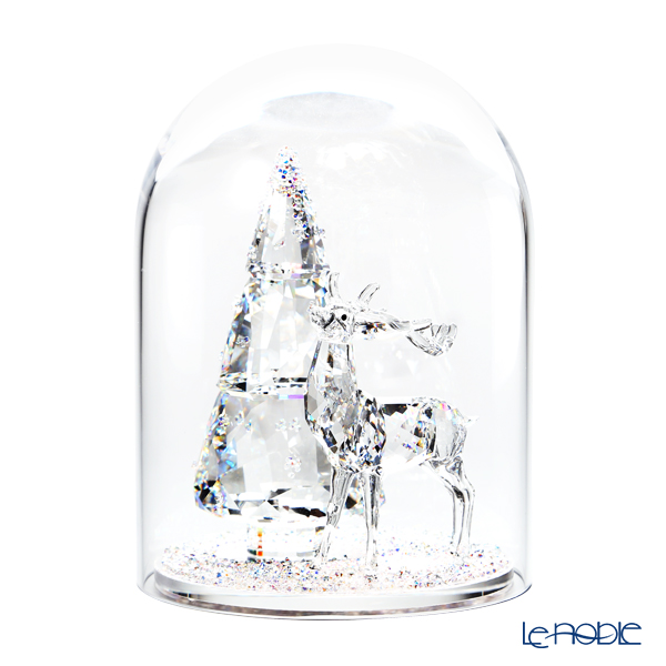 スワロフスキー ガラス鐘 松の木とシカ (クリスマスツリーとトナカイ) SWV5-403-173 18AW