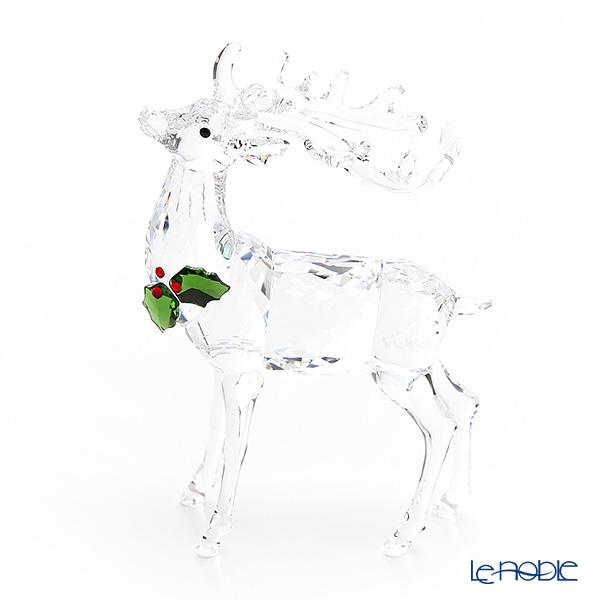 Swarovski 'Christmas Stag (Animal, Holly Leaf)' SWV5403311 [2018] Figurine H9cm