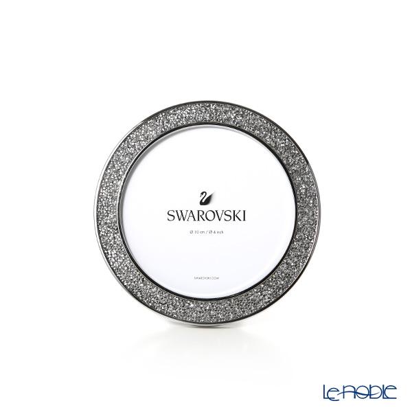 Swarovski 'Minera - Silver Tone / White' Stainless Steel SWV5408239 [2018] Round Picture Frame 13cm