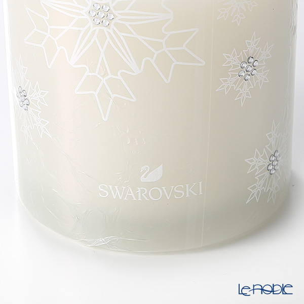 Swarovski  'Happy Holidays (Snowflake) / White' SWV5408246 [2018] Scented Candle (Vanilla) in Glass Jar H9cm