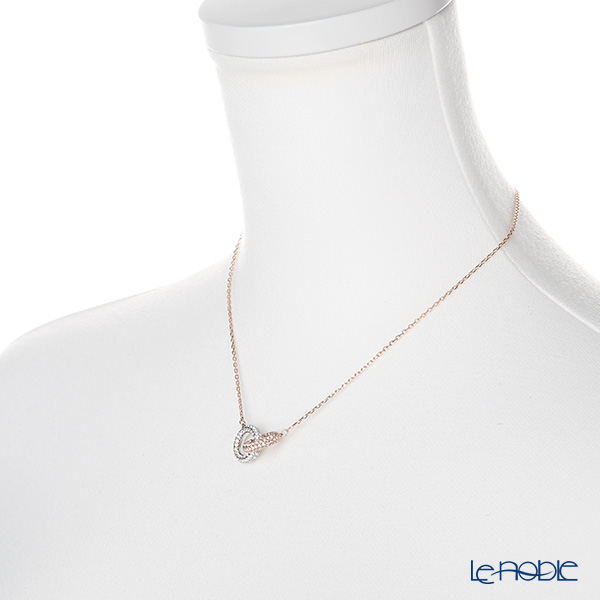 Swarovski 'Stone - Double Ring / White' Rose Gold SW5414999 [2018] Necklace 43.5cm