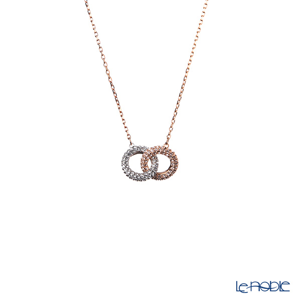 Swarovski 'Stone - Double Ring / White' Rose Gold SW5414999 [2018] Necklace 43.5cm