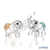 Swarovski 'Luckey Elephant (Animal)' Blue & Yellow SWV5428004 [2019] Figurine (set of 2)