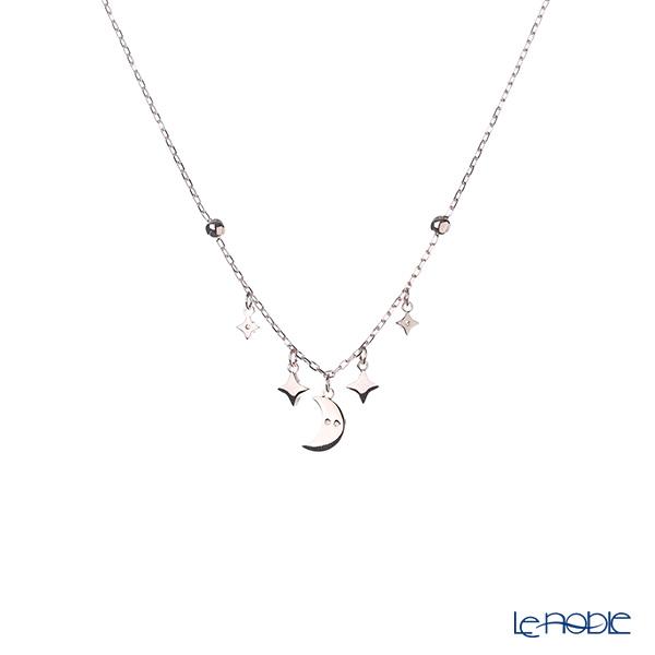 Swarovski 'Duo - Symbolic Moon & Star / Black & White' Rose Gold SW5429737 [2018] Necklace 41.5cm