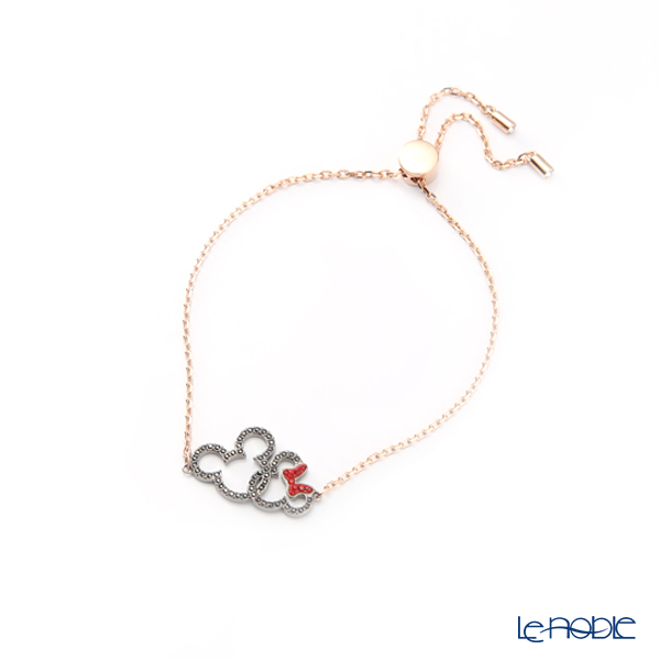 Swarovski 'Disney - Mickey & Minnie / Black & Red' Rose Gold SW5435138 [2018] Bracelet 22cm