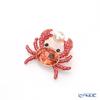 Swarovski 'Ocean - Crab / Red & White Pearl' SW5457571 [2019] Brooch 4x3.5cm
