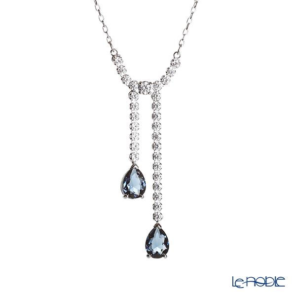 Swarovski 'Vintage - White & Blue' Rhodium SW5457628 [2019] Y Necklace 43.5cm