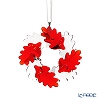 Swarovski 'Christmas - Wreath Reeves' Clear & Red SWV5464866 [2019]  Ornament 6.5cm