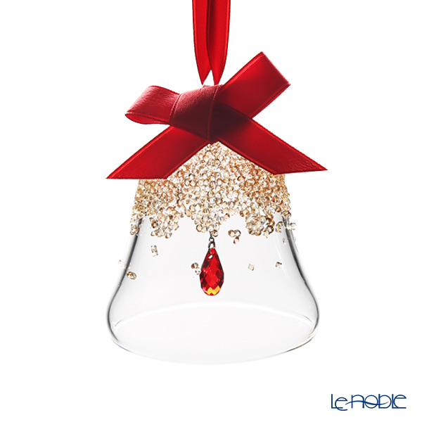 Swarovski 'Christmas Bell - Red Drop' Golden Shadow SWV5464882 [2019] Ornament (S) H7cm