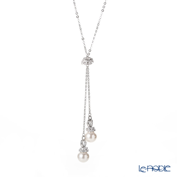 Swarovski 'Originally - White & White Pearl' Rhodium SW5467313 [2019] Y Necklace 47cm