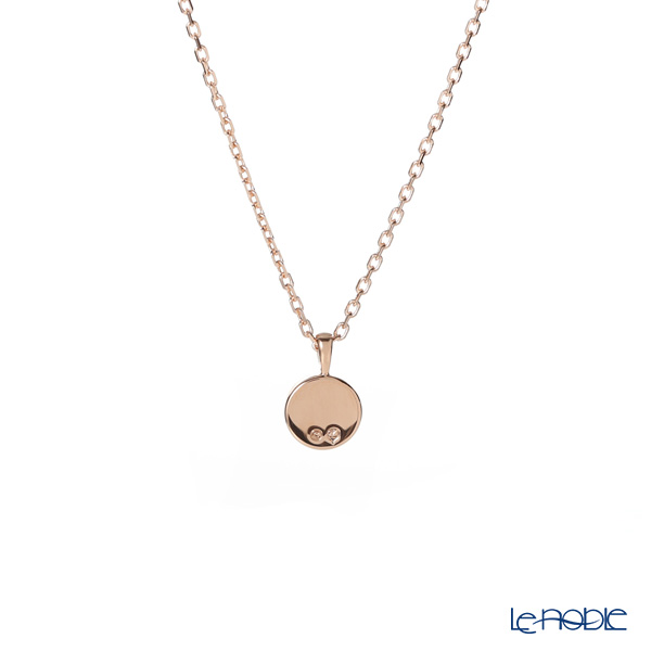Swarovski 'Luckily - Round / White & Dark Blue' Rose Gold SW5468919 [2019] Pendant 43.5cm