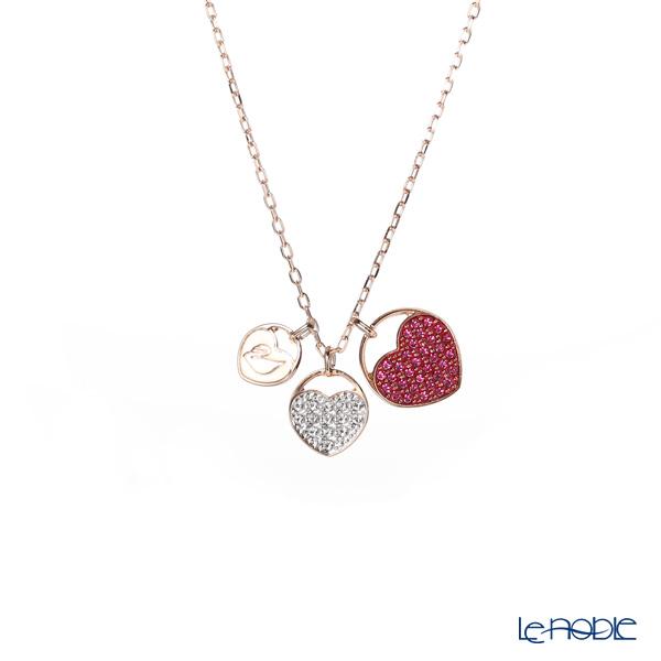 Swarovski 'Ginger - Heart / Pink & White' Rose Gold SW5472446 [2019] Pendant 45cm