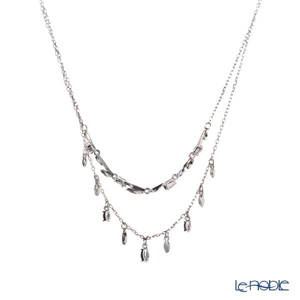 Swarovski 'Mayfly / White' Rhodium SW5482078 [2019] Layered Necklace 42cm