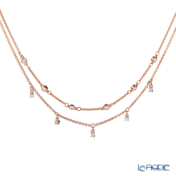 Swarovski 'Moon Sun Moon / White' Rose Gold SW5486647 Double Necklace 41cm