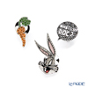 Swarovski 'Warner Bros - Looney Tunes Bugs Bunny (Rabbit) & Carrot' Rhodium SW5488791 Tie Pin (set of 3 designs)