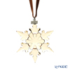 Swarovski 'Christmas Snowflake - Festive' Gold SWV5489192 [Annual Edition 2020] Ornament 8.5cm