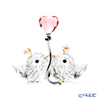 Swarovski 'Love Birds Pink Heart' SWV5492226 Decoration Object H6.5cm