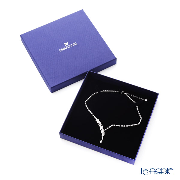 Swarovski 'Nice Deluxe (Feather) / White' Rhodium SW5493401 Necklace 43.5cm