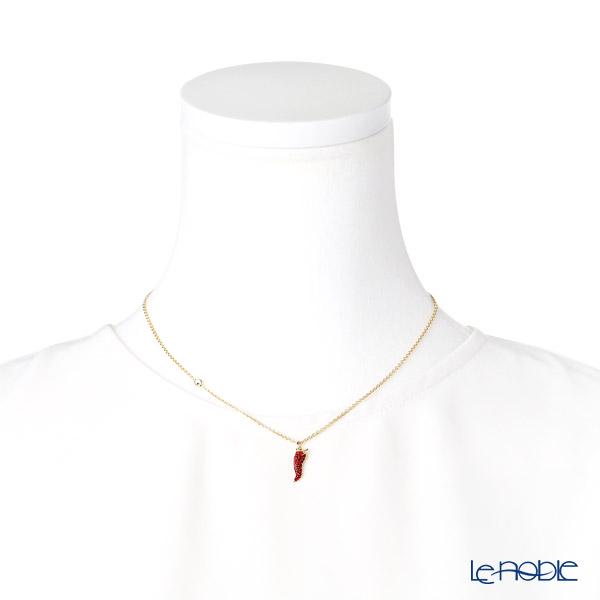 Swarovski 'Lisabel Coin (Pepper) / Red & White' Gold SW5510531 Pendant 44cm