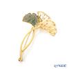 Swarovski 'Stunning Ginko / Green White' Gold SW5518174 Brooch 7.5cm