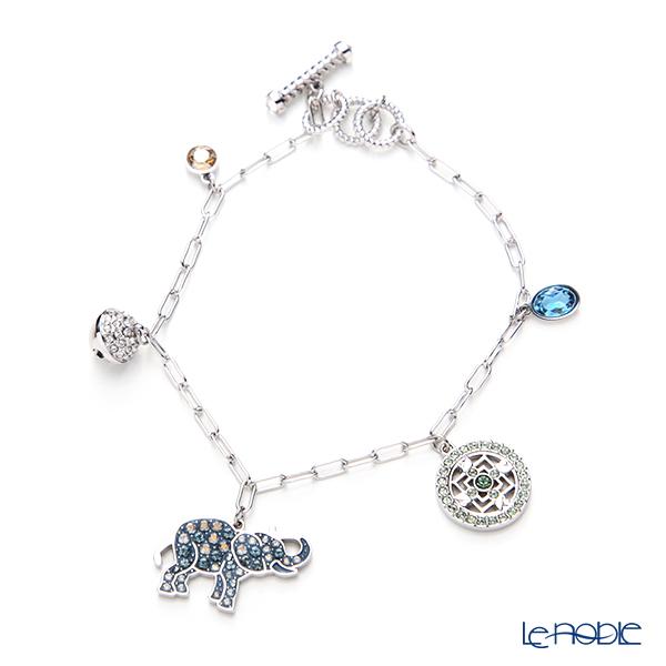 Swarovski 'Symbolic - Elephant / Blue & White & Yellow' Rhodium SW5521444 Bracelet 18cm