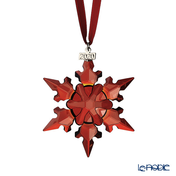 Swarovski 'Holiday - Snowflake' Red SWV5527742 [2020 LE] Christmas Ornament 8cm