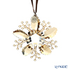 Swarovski 'Christmas Snowflake - Winter Sparkle' Gold & White SWV5533949 [Annual Edition 2020] Ornament 8.5cm