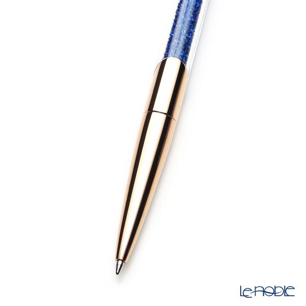 Swarovski 'Crystalline - Nova' Navy Blue / Rose Gold SW5534319 Ballpoint Pen 14.5cm