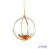 Swarovski 'Garden Tales - Magnolia' Beige Orange SWV5557806 Flower Ball Ornament 7cm (S)