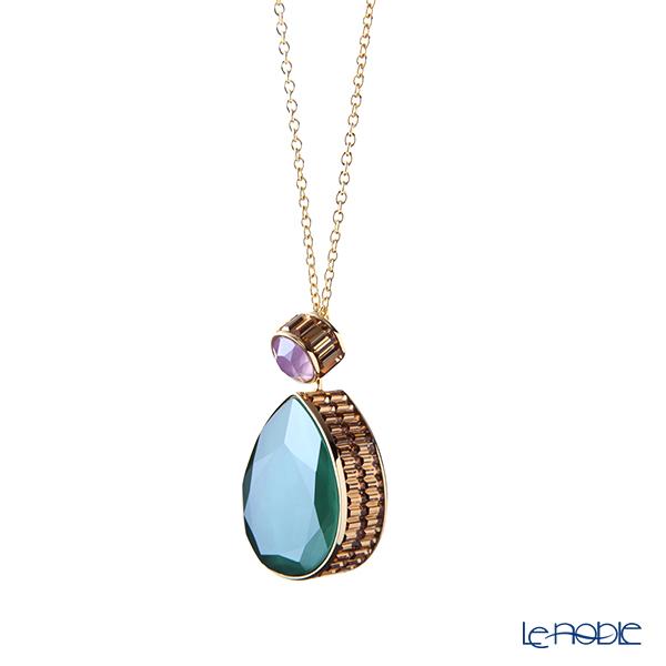Swarovski 'Orbita / Green Purple Yellow' Gold SW5600517 Necklace 66cm