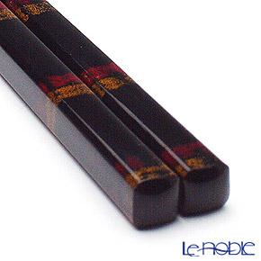 若狭塗箸(兵左衛門) うるし 黒帯(大)23.5cm B-905