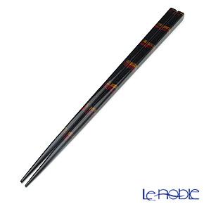 若狭塗箸(兵左衛門) うるし 黒帯(大) 23.5cm B-905