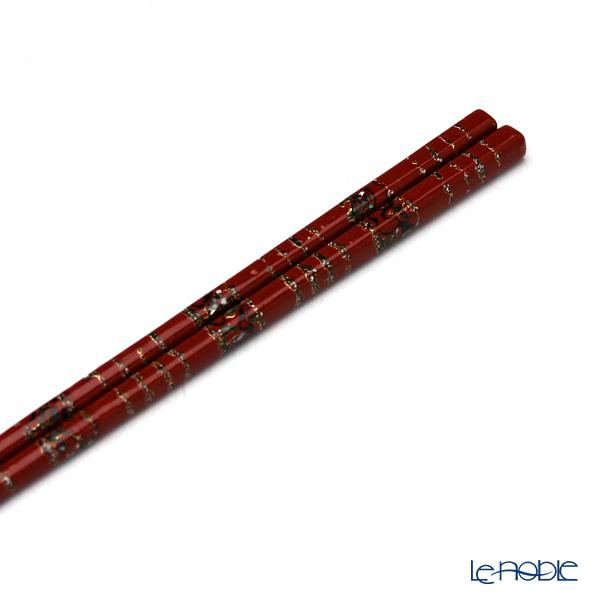 若狭塗箸(伝統工芸士・古井正弘作) 漆千代錦21.5cm G-60012