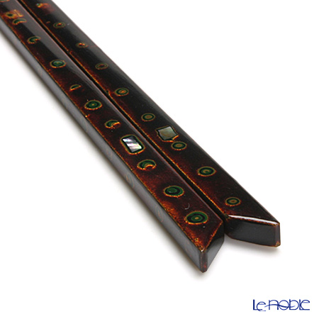 若狭塗箸 錦菓子箸竹三面塗22.5cm M-20022