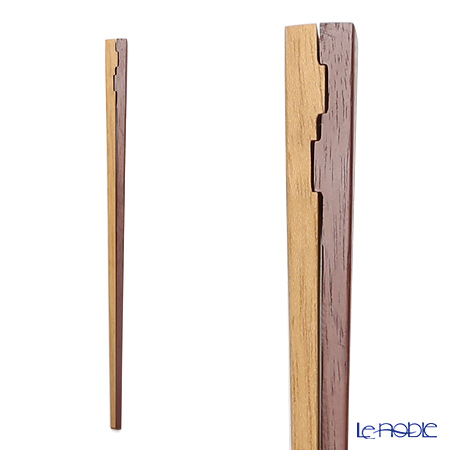 Wakasa Lacquerware 'Tsugai - Tea Coro Bar' Light Brown C-10031 Chopsticks 23cm
