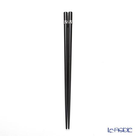 若狭塗箸 シャインビューティーAS-11047 22.5cm ブラック 桐箱入