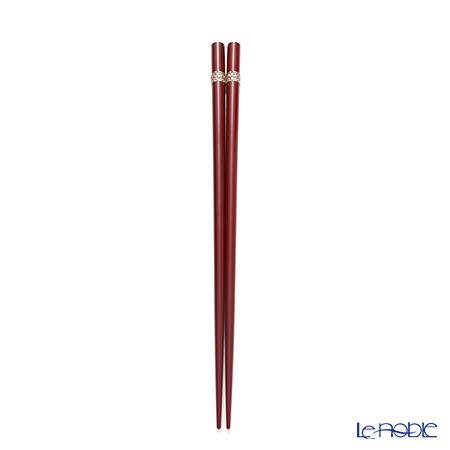 若狭塗箸 シャインビューティーAS-11048 22.5cm レッド 桐箱入