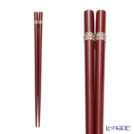 Wakasa Lacquerware 'Shine Beauty' Red S-11048 Chopsticks 22.5cm (with wooden box / Paulownia)