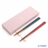 Wakasa lacquer chopsticks plant dye pair S-56005 Indigo, pink, each 23 cm chopstick rest w / box