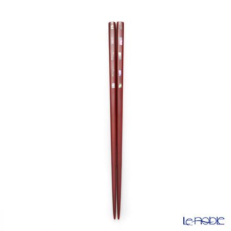 若狭塗箸 貝香ペアS-12108 黒23.5cm・赤21.5cm 桐箱入