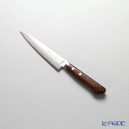 堺打刃物 堺宗一作 ペティナイフ 13.5cm マボガニー柄ゴールド鋼割込