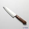 Sakai Soichi Small Santoku knife 14 cm, mabogani pattern, warikomi gold steel