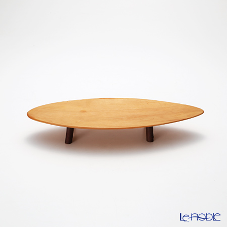 ランカ はんの木楕円盛皿(脚付)
