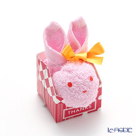 プチギフト うさちゃんタオル ピンクA42-605-05