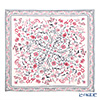 Jim Thompson 'Flower Spray' Pink White / Grry frame Silk Cushion Cover 80x77cm