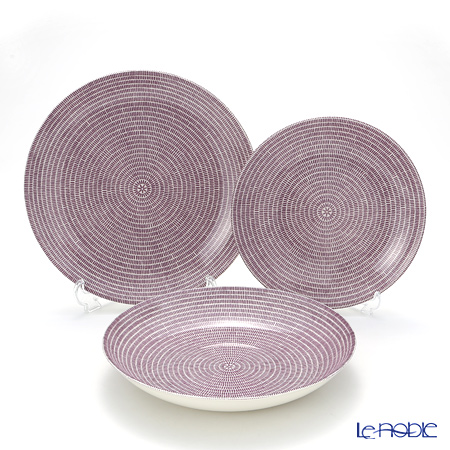 Arabia 24h Avec Purple Deep Plate 24 cm, Plate 20 cm and 26 cm