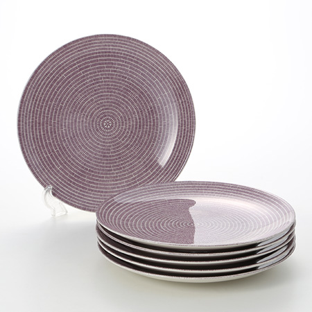 Arabia 24h Avec Purple Plate 26 cm set of 6