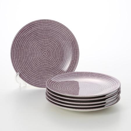 Arabia '24h Avec' Purple Plate 21cm (set of 6)