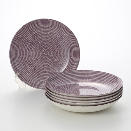 Arabia 24h Avec Purple Deep plate 24 cm set of 6